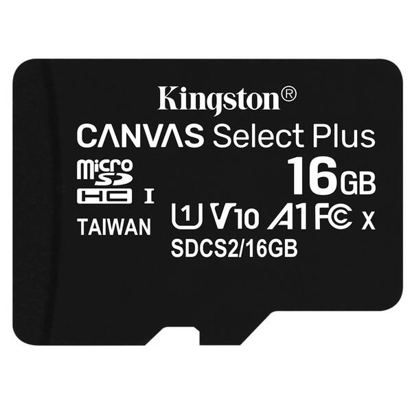 Paměťová karta Kingston Canvas Select Plus MicroSDHC 16GB UHS-I U1 (100R/10W) (SDCS2/16GBSP)