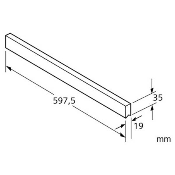 Dekoračná lišta Siemens LZ46070 hliník