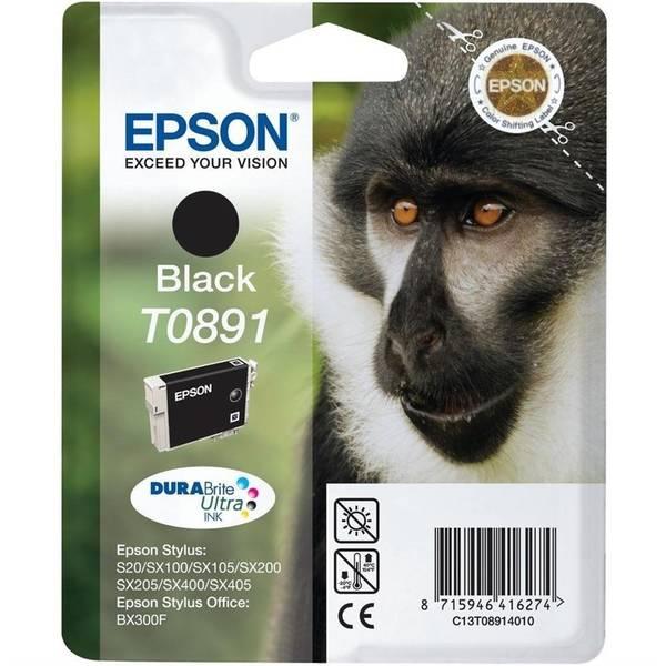 Inkoustová náplň Epson T0891, 180 stran - originální (C13T08914011) černá