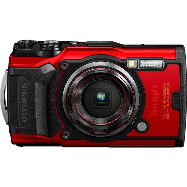 Digitálny fotoaparát Olympus TG-6 červený