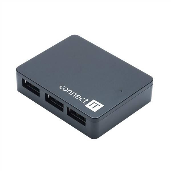 USB Hub Connect IT USB 3.0 / 4x USB 3.0 (CI-170) černý