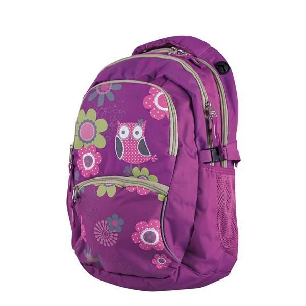 Batoh školský Stil teen Owl zelené ružové fialové ... 9c340f4b25
