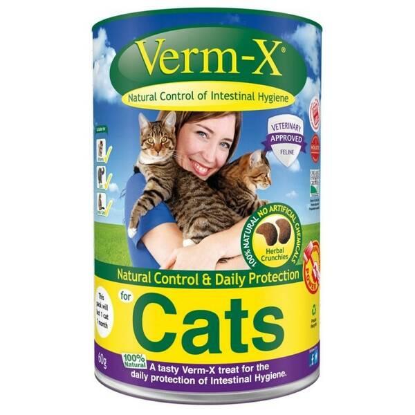 Krmivo Verm-X Přírodní granule proti střevním parazitům pro  kočky 60 g