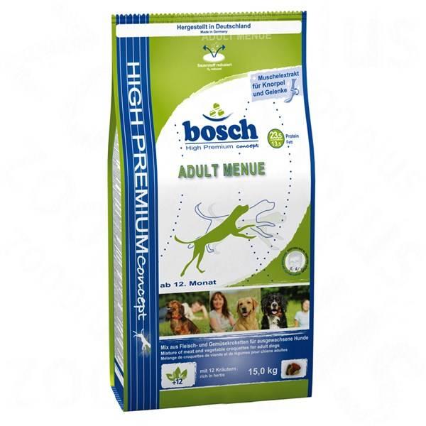 Granule Bosch Adult Menue 15 kg, pro dospělé psy