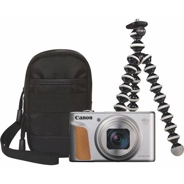 Digitálny fotoaparát Canon PowerShot SX740 HS, TRAVEL KIT (2956C016) strieborný
