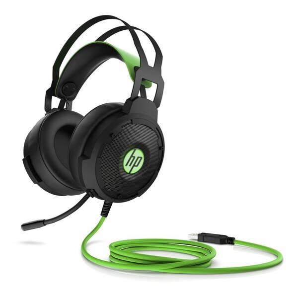 Headset HP Gaming 600 (4BX33AA#ABB) černý/zelený