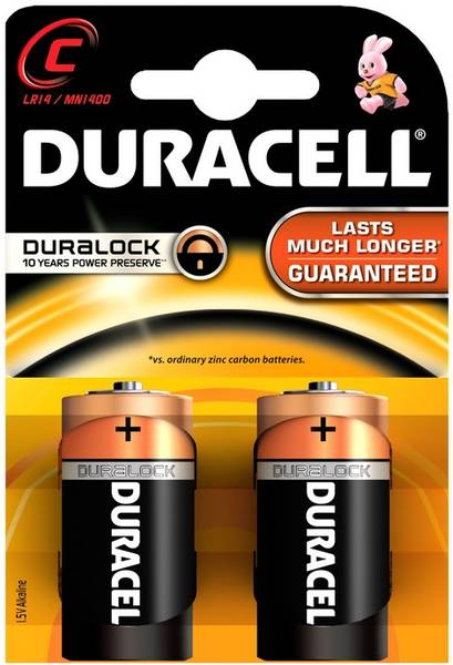 Batéria alkalická Duracell Basic C, LR14, blistr 2ks