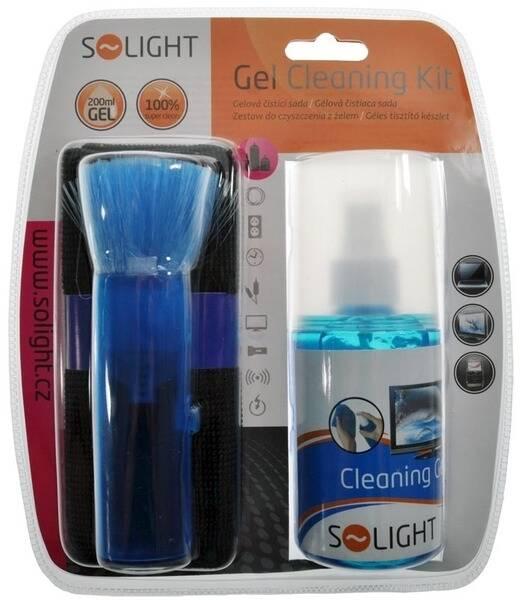 Čistiaca sada Solight LCD & TV Gelová čisticí sada, 200ml, štetec, hadřík (241424)