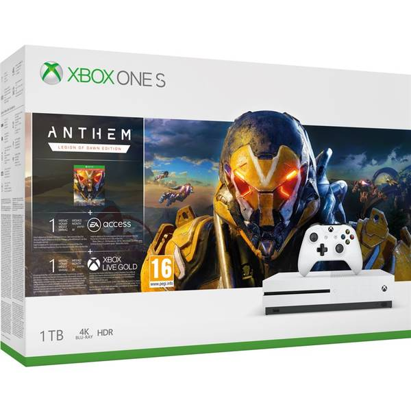 Herná konzola Microsoft Xbox One S 1 TB + Anthem: Legion of Dawn Edition (234-00947)