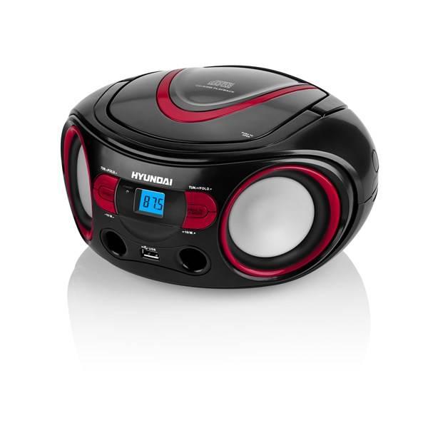 Radiopřijímač s CD Hyundai TRC 533 AU3BR černý/červený (vrácené zboží 8800259483)