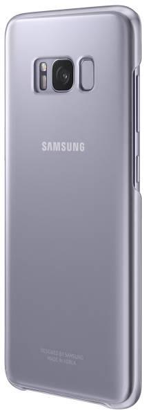 Kryt na mobil Samsung Clear Cover pro Galaxy S8+ (EF-QG955CVEGWW) fialový (poškozený obal 8119005090)