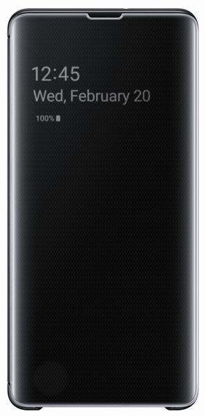 Pouzdro na mobil flipové Samsung Clear View pro Galaxy S10+ (EF-ZG975CBEGWW) černé