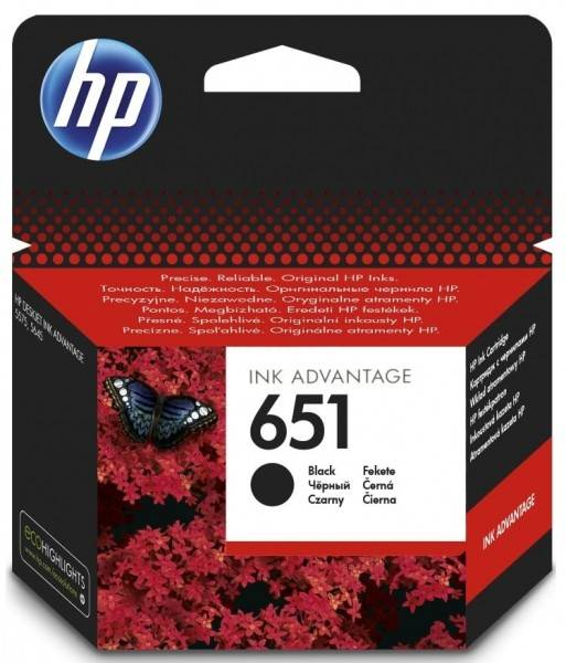 Inkoustová náplň HP No. 651, 600 stran (C2P10AE) černá