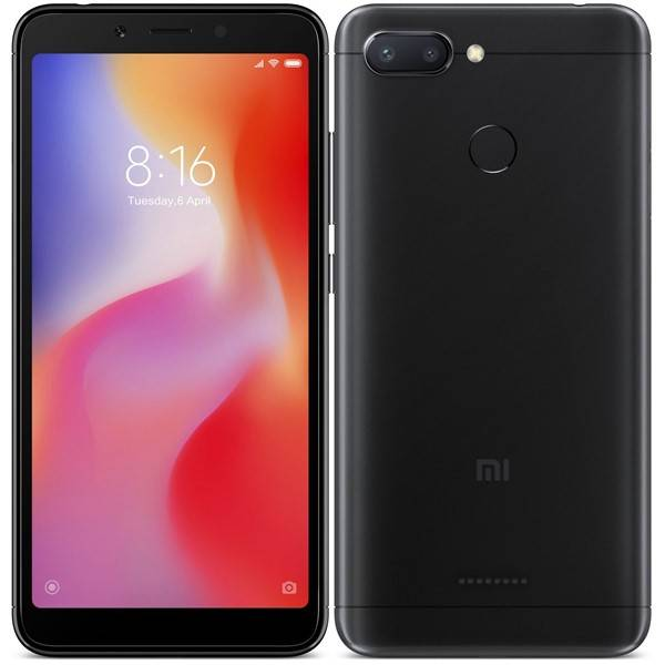 Mobilní telefon Xiaomi Redmi 6 Dual SIM 3GB/32GB (22136) černý