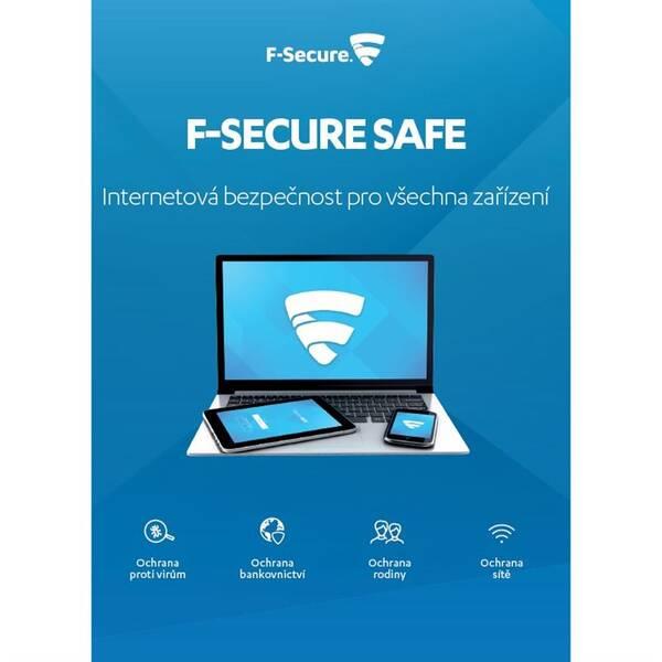 Software F-Secure SAFE, 3 zařízení / 6 měsíců (FCFXBR1N001XN)