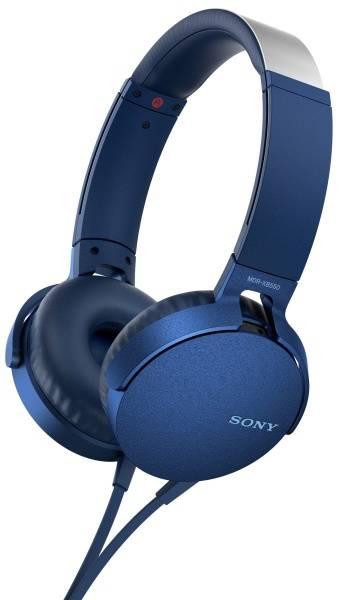 Sluchátka Sony MDR-XB550AP Extra Bass™ (MDRXB550APL.CE7) modrá
