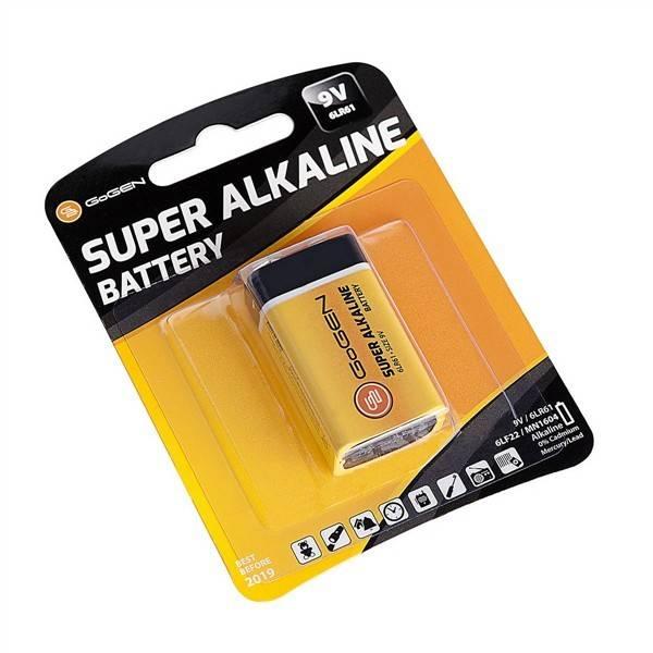 Baterie alkalická GoGEN SUPER ALKALINE 9V, blistr 1ks (GOG9VALKALINE1)