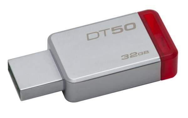 USB Flash Kingston DataTraveler 50 32GB (DT50/32GB) červený/kovový