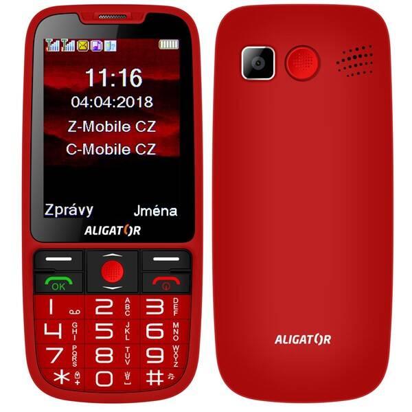 Mobilní telefon Aligator A890 Senior (A890RD) červený (vrácené zboží 8800451382)