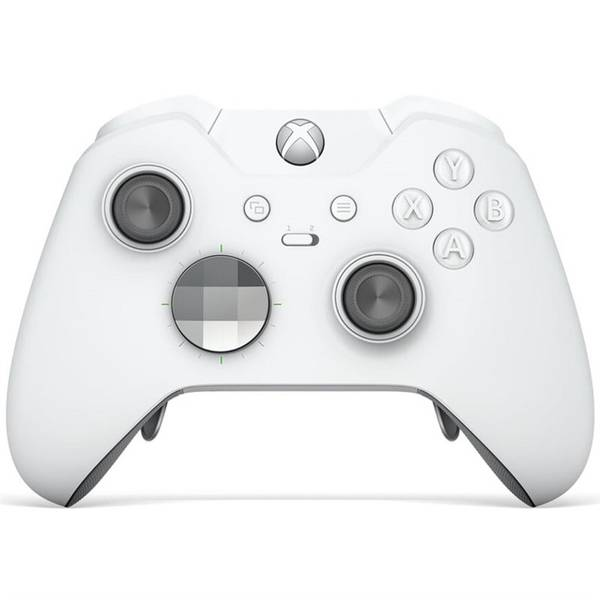 Gamepad Microsoft Xbox One Wireless - speciální bílá edice Elite (HM3-00012) (vrácené zboží 8800244348)