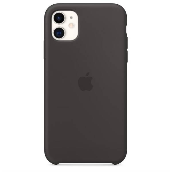 Kryt na mobil Apple Silicone Case pro iPhone 11 (MWVU2ZM/A) černý