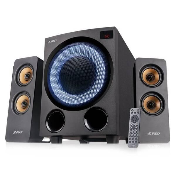 Reproduktory Fenda F&D F770X, 2.1, 76W, RGB, BT5.0, FM rádio, USB, optický vstup, dálkové ovládání (F770X) (vrácené zboží 8801136858)