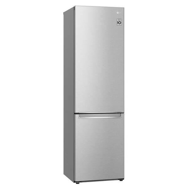 Kombinácia chladničky s mrazničkou LG GBB72NSVCN strieborná