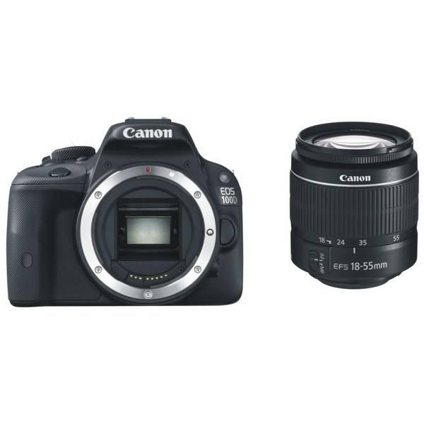 Digitální fotoaparát Canon EOS 100D + 18-55 DC III + LP-E12 + EG300 (8576B062) černý