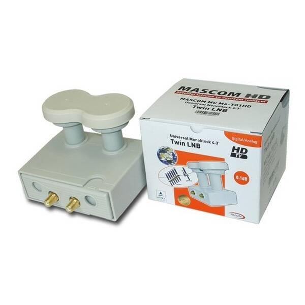 Konvertor Mascom LNB-MCM4T01HD bílý (poškozený obal 8800006347)