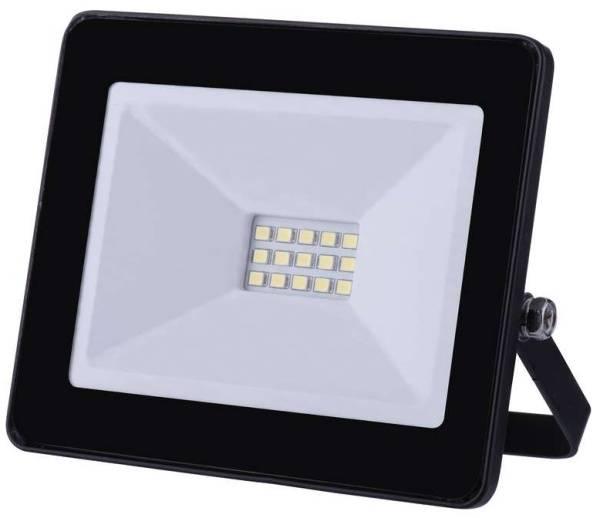 LED reflektor EMOS HOBBY SLIM, 10W, neutrální bílá, 800lm (1531221011) černý