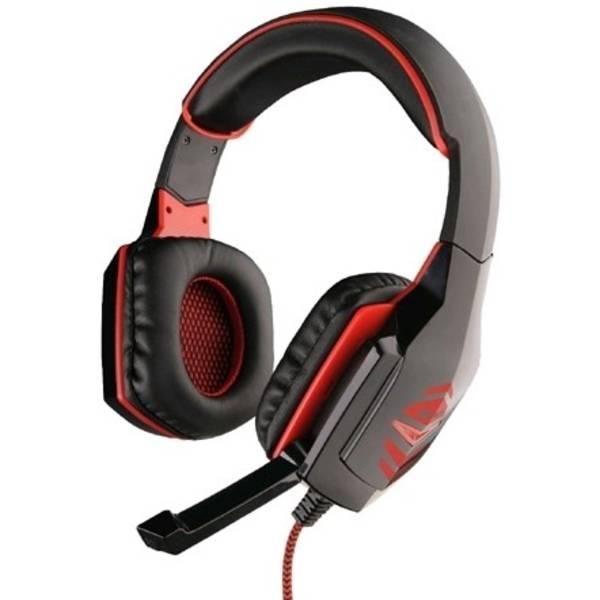 Headset C-Tech Raiden (GHS-03R), černo-červená (GHS-03R) černý (Náhradní obal / Silně deformovaný obal 8800092945)