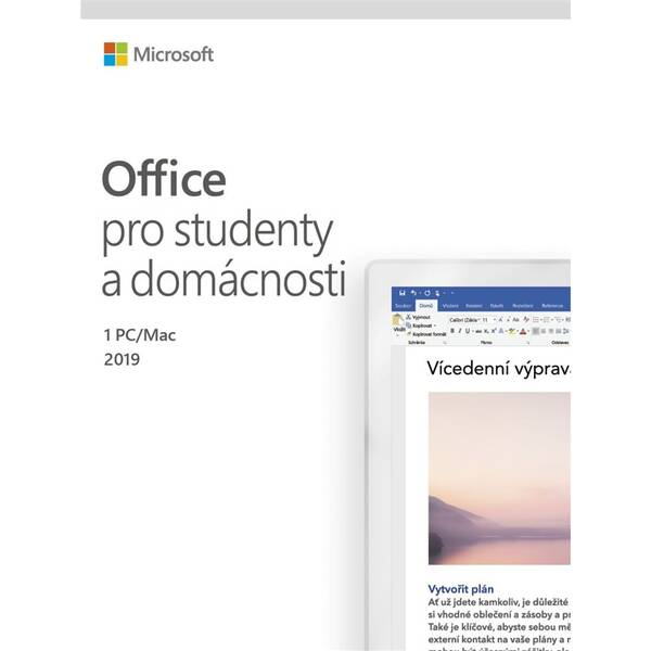 Software Microsoft Office 2019 pro studenty a domácnosti CZ (79G-05078)
