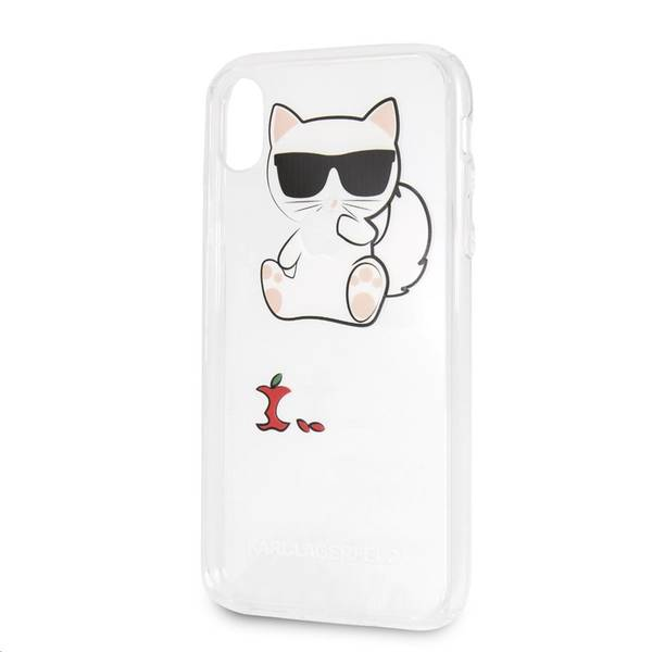 Kryt na mobil Karl Lagerfeld Fun Eaten Apple No Rope pro Apple iPhone XR (KLHCI61CFA) průhledný