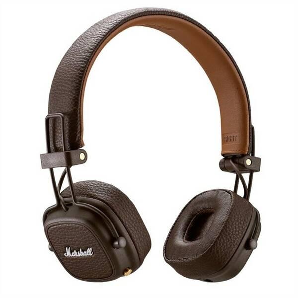 Sluchátka Marshall Major III Bluetooth hnědá