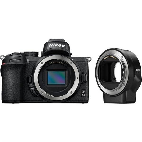 Digitální fotoaparát Nikon Z50 + adaptér bajonetu FTZ (VOA050K003) černý