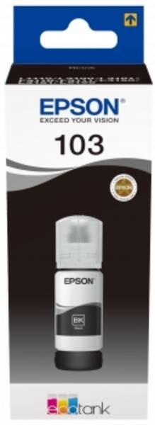 Inkoustová náplň Epson EcoTank 103, 65 ml (C13T00S14A) černá