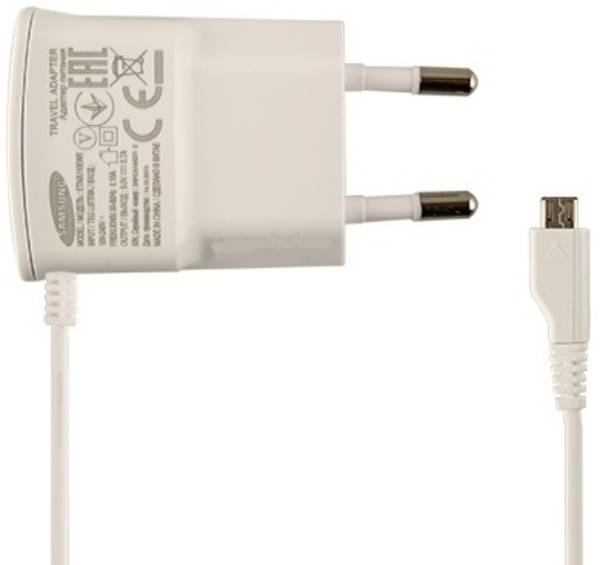 Nabíječka do sítě Samsung ETA-0U10EWE, MicroUSB, 0,7A (bulk) (ETA-0U10EWE) bílá