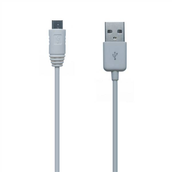 Kabel Connect IT Wirez USB/micro USB, 1m (CI-146) bílý