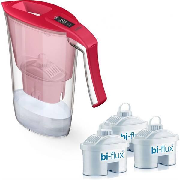 Filtrácia vody Laica Carmen + 3 filtry Bi–flux (J9066A1) červená farba