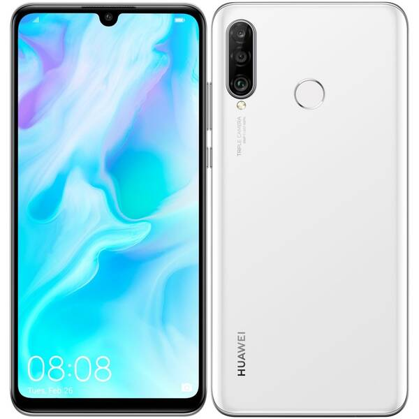 Mobilní telefon Huawei P30 lite 128 GB (SP-P30LDSWOM) bílý
