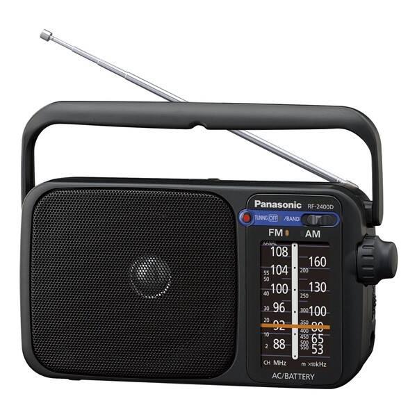 Radiopřijímač Panasonic RF-2400DEG-K (RF-2400DEG-K) černý (vrácené zboží 8800012342)