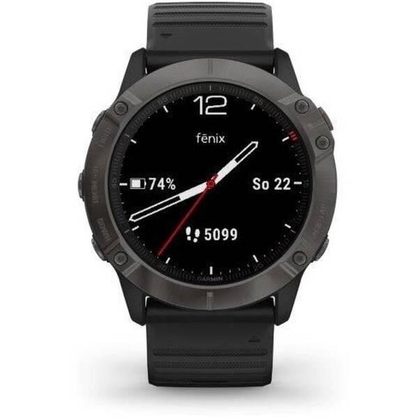 GPS hodinky Garmin fenix6X PRO Sapphire (MAP/Music) (010-02157-92) černé/šedé
