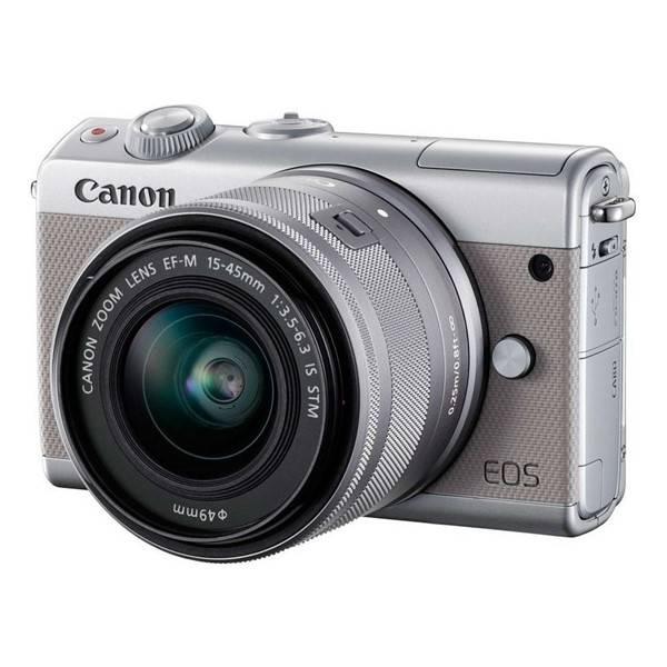 Digitální fotoaparát Canon EOS M100 + EF-M 15-45mm IS STM (2211C067) šedý (vrácené zboží 8800017234)