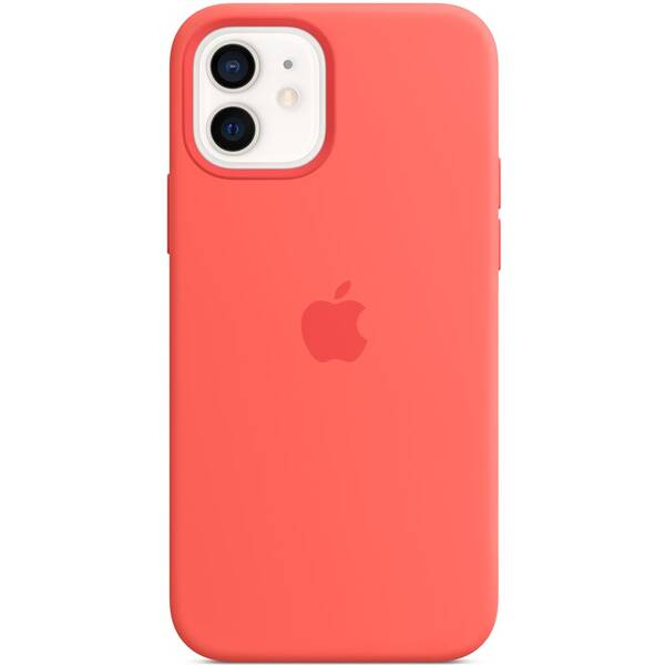 Kryt na mobil Apple Silicone Case s MagSafe pre iPhone 12 a 12 Pro - citrusovo ružový (MHL03ZM/A)