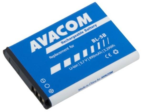 Baterie Avacom pro Nokia 3220, 6070, Li-Ion 3,7V 890mAh (náhrada BL-5B) (GSNO-BL5B-S890)