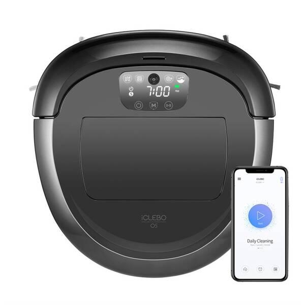Robotický vysávač iClebo O5 YCR-M07-20W čierny/sivý