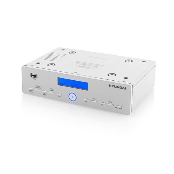 Radiopřijímač Hyundai KR 815PLLU stříbrný/bílý