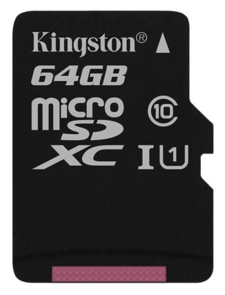 Paměťová karta Kingston Canvas Select MicroSDXC 64GB UHS-I U1 (80R/10W) (SDCS/64GBSP)