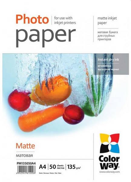 Fotopapír ColorWay matte 135g/m2, A4/ 50ks (PM135050A4)