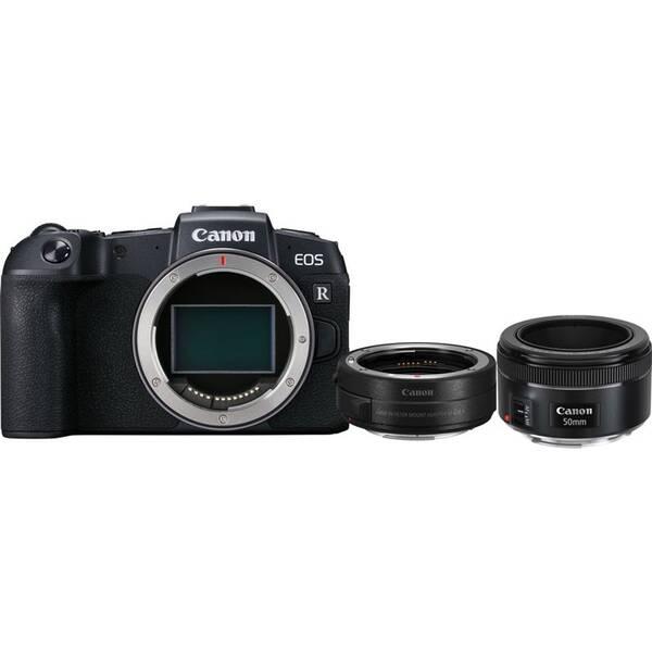 Set výrobků Canon EOS RP + adapter + EF 50 mm f/1.8 STM